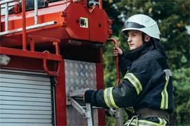 Firefighter Holding Tender