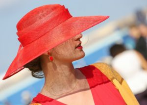 Elegant woman at races
