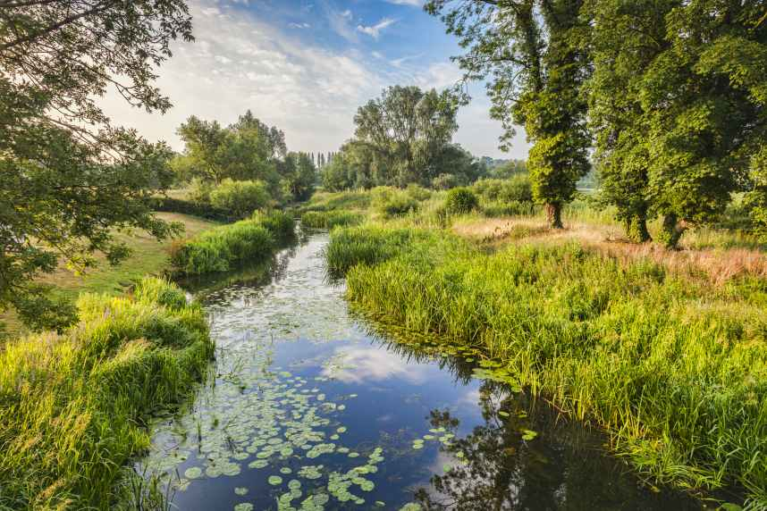 River Stour at Nayland, Suffolk, England, in the Constable Country
