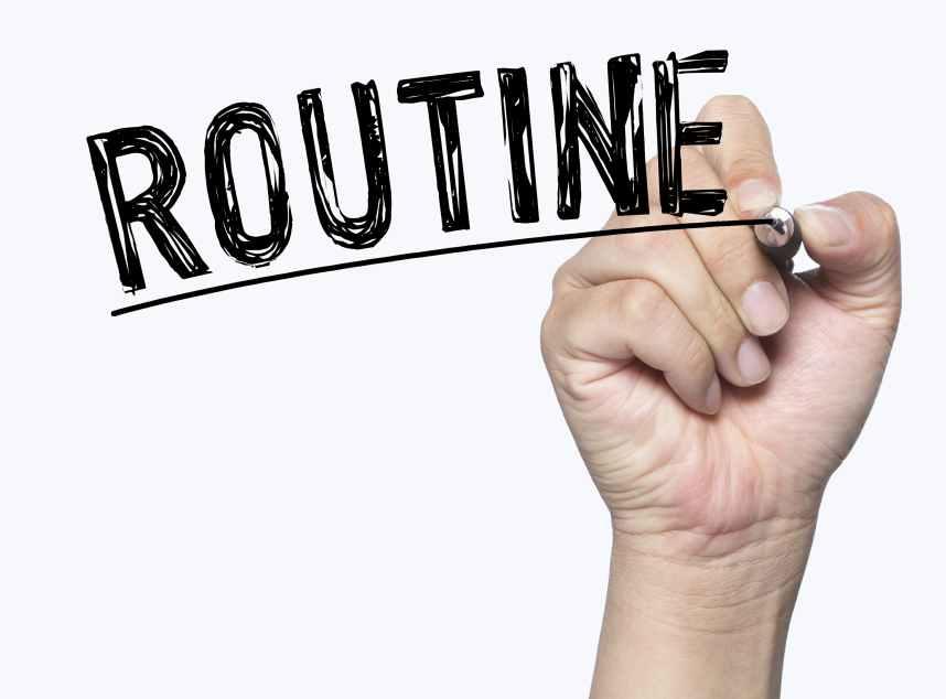 routine written by hand