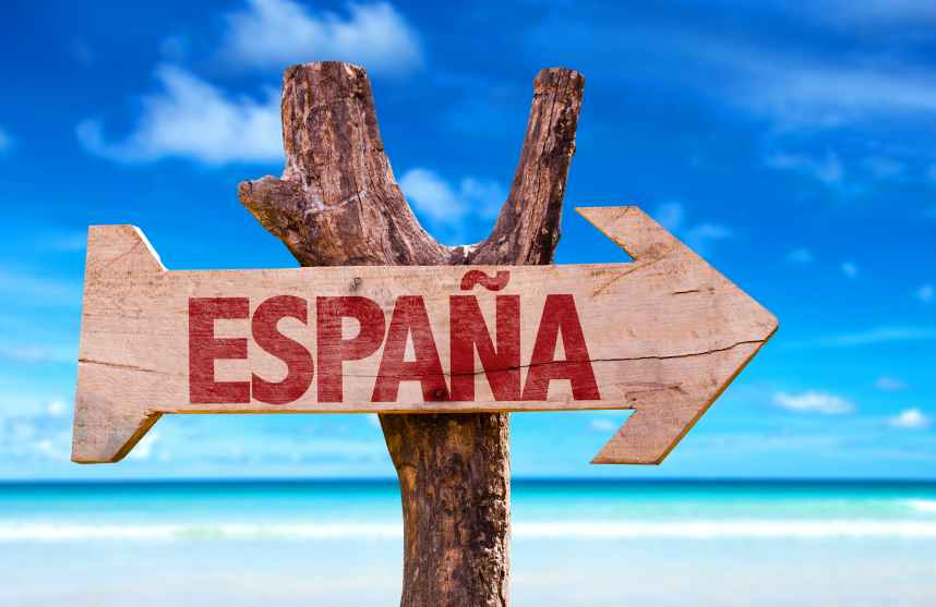 Sign with Espana on