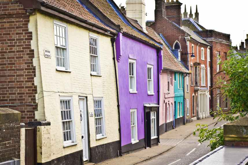Colorful cottages