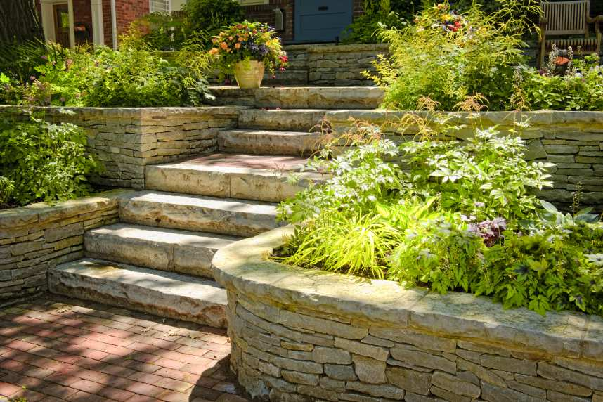 Natural stone pathway improves kerb appeal