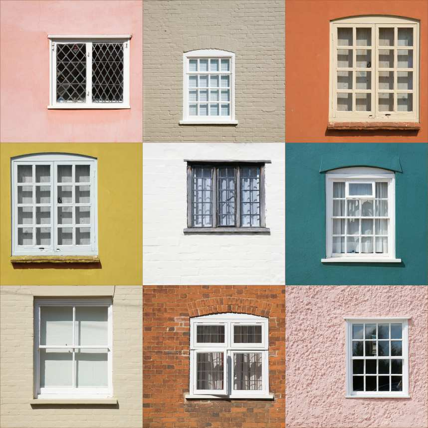 collection of window frames