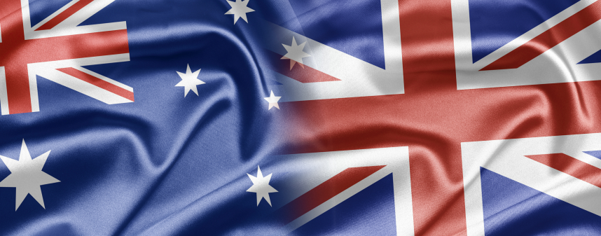 UK and Australian Flag