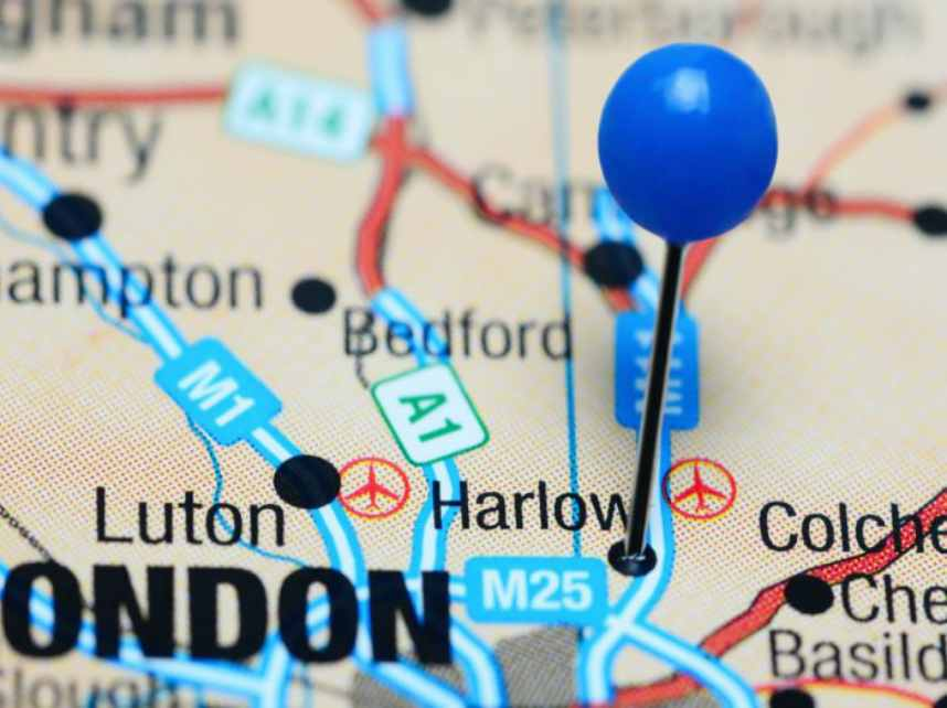 Harlow On The Map