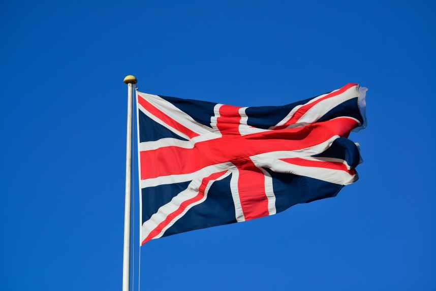 United Kingdom national flag flying