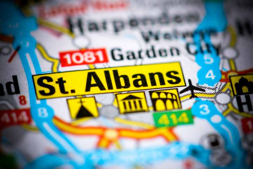 St Albans on map