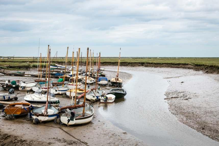 Low tide boats at Blakeney