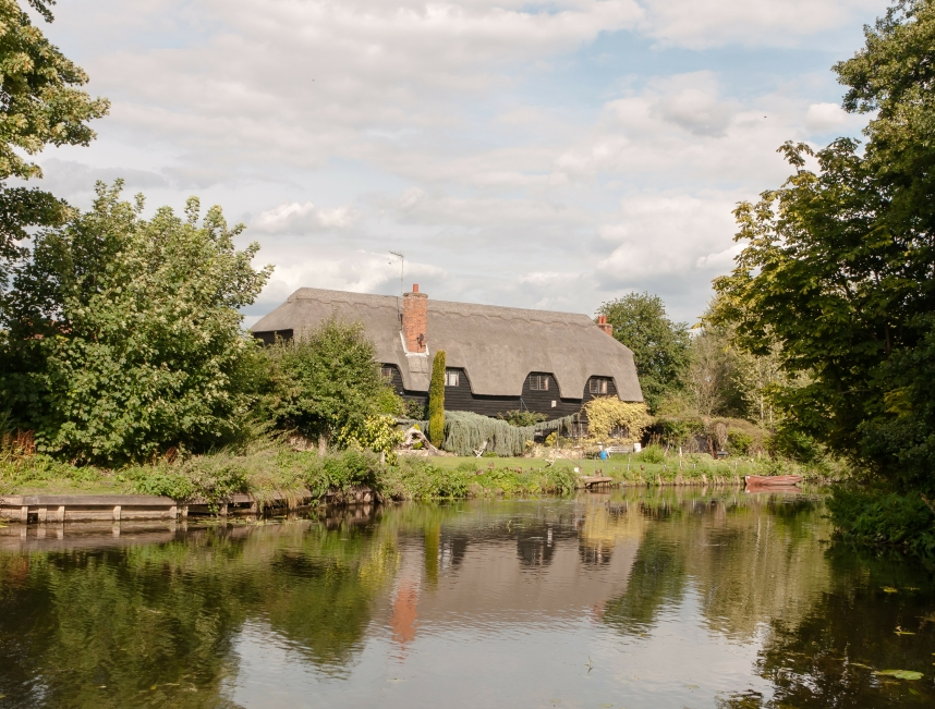 Historic cottage on river
