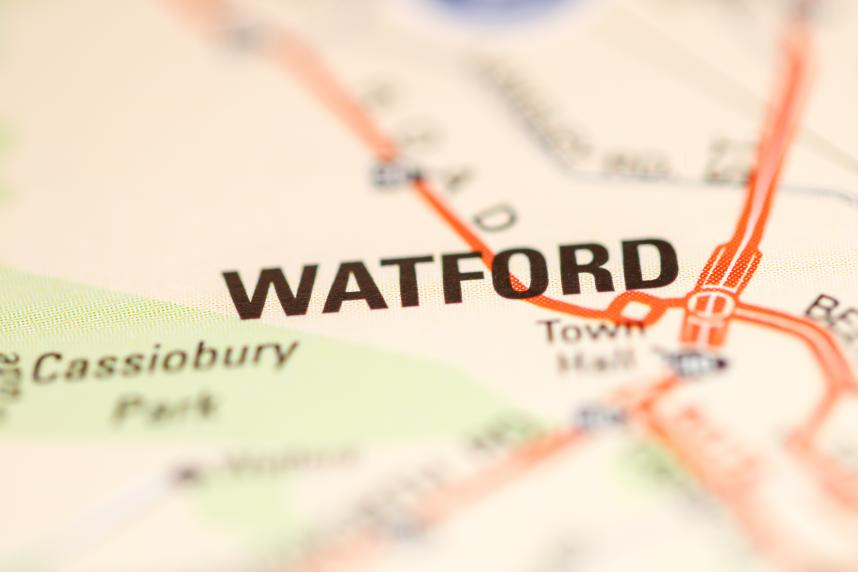 Watford on Map