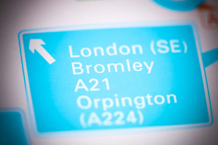 Bromley Road sign