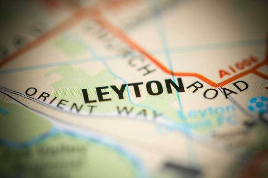 Leyton on map